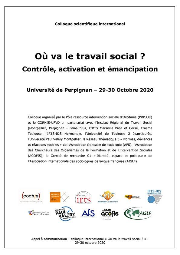 Colloque scientifique international – Octobre 2020