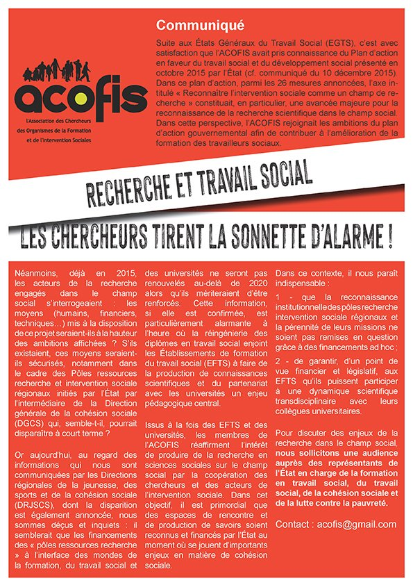 Recherche et travail social : les chercheurs tirent la sonnette d'alarme !