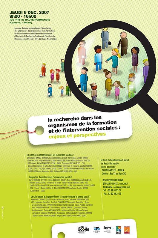 Année 2007 – La recherche dans les organismes de la formation et de l'intervention sociales : enjeux et perspectives.